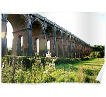 Viaduct and Green Fields - Balcombe Poster