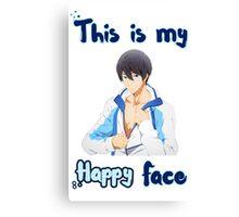 Haruka Nanase - 'This is my Happy Face' Canvas Print