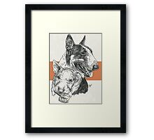 Bull Terrier Father & Son Framed Print