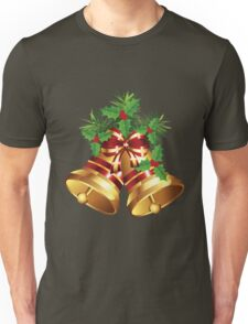 Golden Christmas Bells Unisex T-Shirt