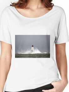 Stormy Ludington Lighthouse 2 Women's Relaxed Fit T-Shirt