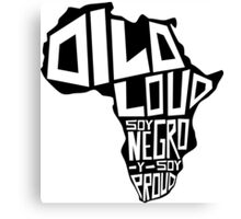DILO LOUD: Africa Canvas Print
