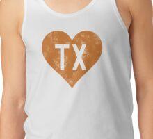 I Love Texas horns Tank Top