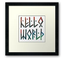 Hello world! Framed Print