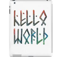 Hello world! iPad Case/Skin