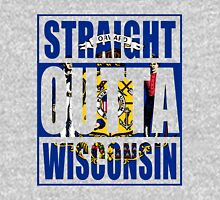Straight Outta Wisconsin Flag Unisex T-Shirt