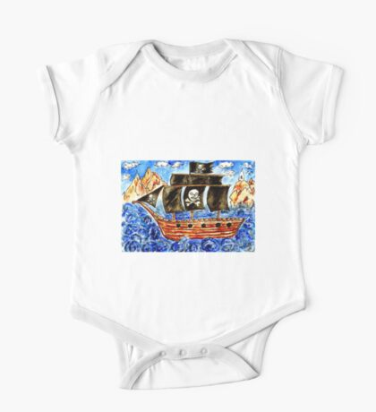 Pirate Boat One Piece - Short Sleeve
