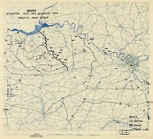 World War II Twelfth Army Group Situation Map August 24 1944 by allhistory
