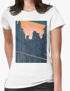 Cityscape in the Evening Womens Fitted T-Shirt