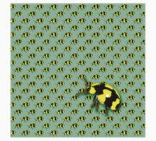 Yellow Ladybug One Piece - Short Sleeve