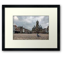 Delft from a Pigeon's point of view  Framed Print