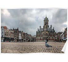 Delft from a Pigeon's point of view  Poster