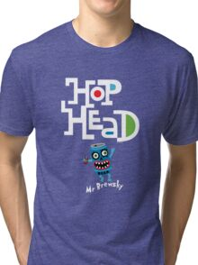 Hop Head (Mr Brewsky) - on darks Tri-blend T-Shirt