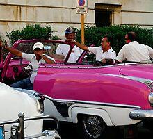 Taxi drivers, Havana, Cuba by buttonpresser