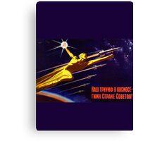 USSR Propaganda - Sputnik Canvas Print