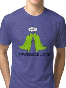 Impossible Love- T-rex edition  Tri-blend T-Shirt