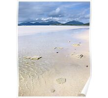 Golden sands and Blue sky, Isle of Harris Poster