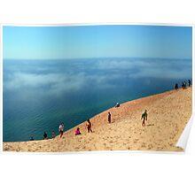 Fog on Lake Michigan at Sleeping Bear Dunes National Lakeshore Poster