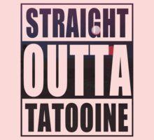 Retro Straight Outta Tatooine One Piece - Long Sleeve