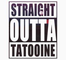 Retro Straight Outta Tatooine Kids Tee