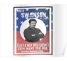 Vote ron swanson! Poster
