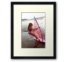 Windsurf Barbie Framed Print