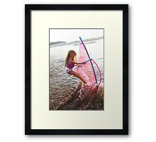 Vintage windsurf Barbie Framed Print