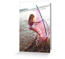Vintage windsurf Barbie Greeting Card