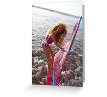 Beach barbie Greeting Card