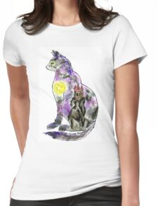 Halloween Cat 2 Womens Fitted T-Shirt