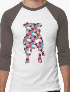 Pitbull Silhouette Men's Baseball ¾ T-Shirt