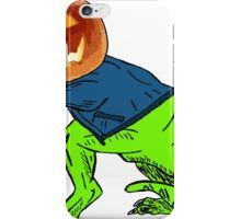 Cool T-Rex with the Jack O Lantern Head iPhone Case/Skin