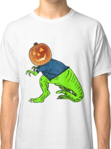 Cool T-Rex with the Jack O Lantern Head Classic T-Shirt