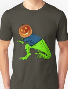 Cool T-Rex with the Jack O Lantern Head T-Shirt
