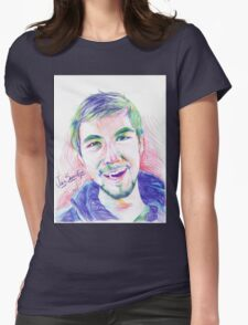 Jacksepticeye Pen Portrait Womens Fitted T-Shirt