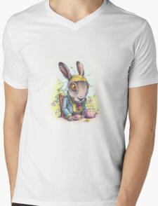 March Hare in May Mens V-Neck T-Shirt