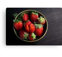 Juicy Strawberries Up Close  Canvas Print