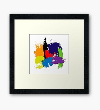 Brush Strokes Framed Print