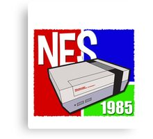 "Nintendo "" NES "" / Fun since 1985 Canvas Print"