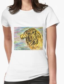 Lion Portrait 4 Womens Fitted T-Shirt