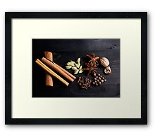 Aromatic Spice Mixture Framed Print