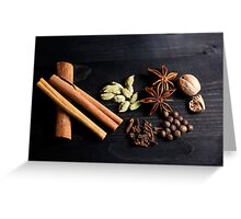 Aromatic Spice Mixture Greeting Card