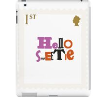 British Stamps_Hello Sweetie iPad Case/Skin