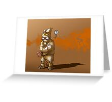 The Unpainting Rabbit Greeting Card
