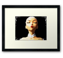 At a Glance, in the Digital Age of Modeling Framed Print