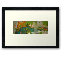 green Framed Print