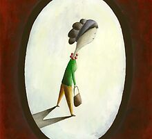 Madame - Woman with Purse by Sibylle Dorr