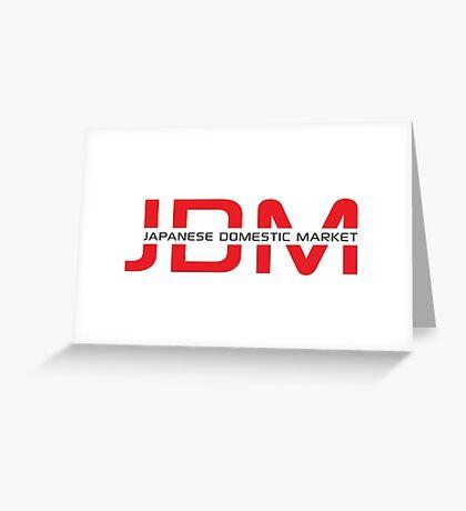 JDM Japanese Domestic Market (light background) Greeting Card