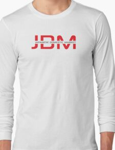 JDM Japanese Domestic Market (light background) Long Sleeve T-Shirt