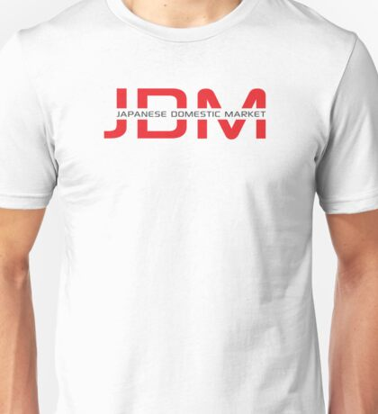 JDM Japanese Domestic Market (light background) Unisex T-Shirt